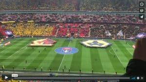 A view from the stands at Wembley Stadium as Wolverhampton Wanderers took on Watford