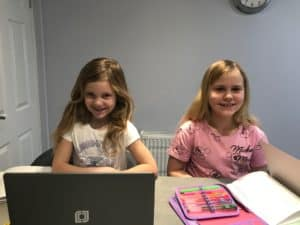 Girls home learning